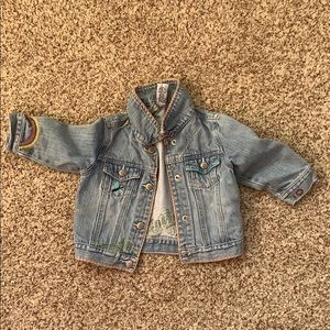 Gap girls Jean jacket with embroidery